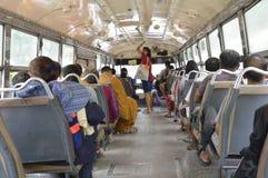Inside View Bangkok bus car Royalty Free Stock Images