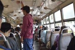Inside View Bangkok bus car Stock Photography
