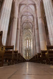 Inside view of Batalha Santa Maria da Vitoria Dominican abbey Royalty Free Stock Photography