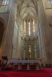 Inside view of Batalha Santa Maria da Vitoria Dominican abbey Royalty Free Stock Image