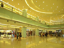 Inside view of Beijing Shopping Mall Royalty Free Stock Photos