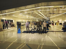 Inside view of Beijing Shopping Mall Stock Images