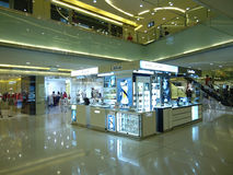 Inside view of Beijing Shopping Mall Royalty Free Stock Images