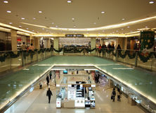 Inside view of Beijing Shopping Mall Royalty Free Stock Image