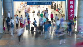 Inside view of Beijing west railway station 4K Stock Photography