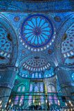 The Blue Mosque, Sultanahmet Camii, Istanbul, Turkey. Inside view of the Blue Mosque, Sultanahmet Camii, Istanbul, Turkey Stock Photo