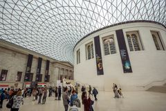 Inside view of British Museum, City of London, England, Great Britain Royalty Free Stock Photos