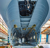 Inside view cargo bay of the helicopter Stock Photography