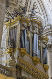 Inside view of the Cathedral in Jaen, also called Assumption Stock Images