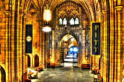 An inside view of The Cathedral of Learning at Pitt - Pittsburgh Royalty Free Stock Photography