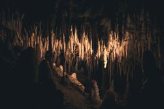 Inside View of Cave Royalty Free Stock Photo