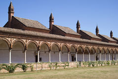 Inside view of the Certosa di Pavia. Italian monastery Royalty Free Stock Photo
