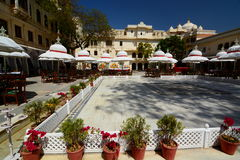 Inside view. City Palace. Udaipur. Rajasthan. India Royalty Free Stock Photos