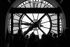 Inside view of the clock of Orsay museum in Paris.  Stock Photo
