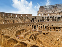 Inside view of Colosseum Royalty Free Stock Images
