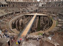 The inside view of colosseum Royalty Free Stock Photography