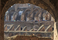 Inside view of Colosseum Stock Images