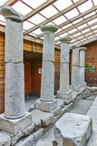Inside view and columns in  archeological site of Starosel, Bulgaria Royalty Free Stock Image