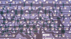 Inside view of computer keyboard electronic circuit Royalty Free Stock Photography