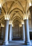 Inside view of the Conciergerie, former royal palace and prison royalty free stock image