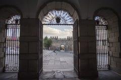 Inside view of the Convent of Santa Teresa in Avila, Spain Stock Images