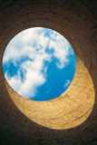 Inside view of cooling tower. Royalty Free Stock Photos