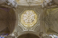 Inside view of the dome of the Burgos cathedral Royalty Free Stock Images