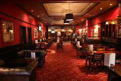Inside view of a english pub royalty free stock photography