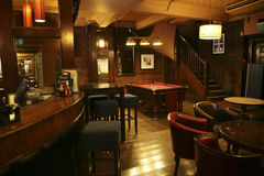 Inside view of a english pub Stock Images