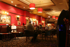 Inside view of a english pub Royalty Free Stock Photos