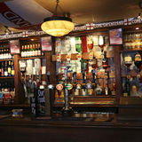 Inside view of a english pub Stock Image