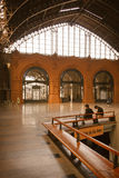 An inside view of a former train station in chile Stock Photo