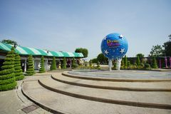 Inside view of the fun park named Dream World in Pathum Thani, T. PATHUM THANI, THAILAND - November 04, 2017: Inside view of the fun park named Dream World in Royalty Free Stock Photos