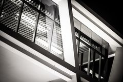 Inside View Of Glass Modern Office Building royalty free stock image