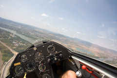 Inside view in a glider Royalty Free Stock Image