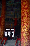 Inside view of the Hall of Prayer for Good Harvests in The Temple of Heaven Royalty Free Stock Images