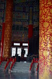 Inside view of the Hall of Prayer for Good Harvests in The Temple of Heaven Royalty Free Stock Image