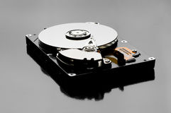 Inside view of hard disk Royalty Free Stock Photo