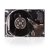 Inside view of hard disk computer Royalty Free Stock Image