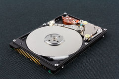 Inside view of a harddisk Royalty Free Stock Images