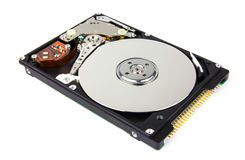 Inside view of a harddisk Royalty Free Stock Image
