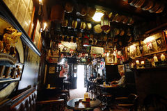 Inside view of London Pub Royalty Free Stock Photography