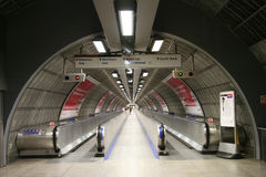 Inside view of the London underground Royalty Free Stock Photos
