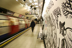 Inside view of the London underground Royalty Free Stock Photo