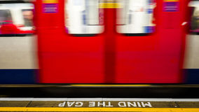 Inside view of London Underground, Tube Station Stock Images