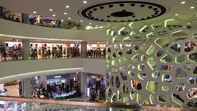 Inside view of Lotte Mart in Busan, Korea. Busan has Korea's largest beach and longest river, and is home to the world's largest department store stock footage