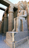 Inside view of Luxor temple Royalty Free Stock Photo