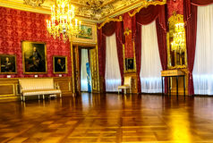 Inside view of magnificent Phillipsruhe Castle in Hanau, near Frankfurt am Main, Germany Royalty Free Stock Image