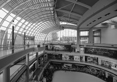 Inside view of Marina Bay Mall in Singapore Royalty Free Stock Photos