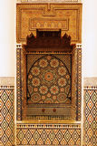 Inside view in the museum of Marrakesh Royalty Free Stock Images